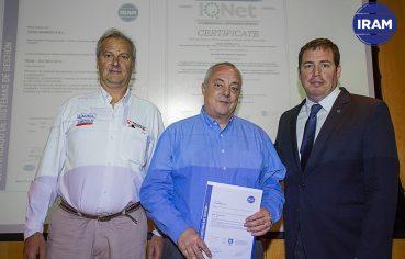 Tecin Mineria Certificacado de Calidad IRAM IQNET